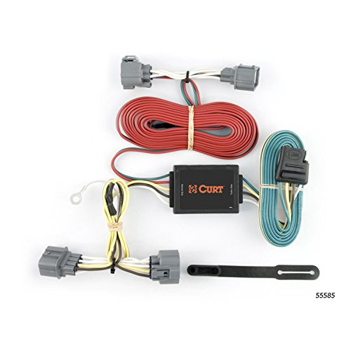 CURT 55585 Vehicle-Side Custom 4-Pin Trailer Wiring Harness for Select Honda Ridgeline