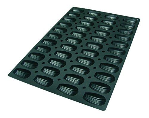 Lekue Professional Baking 44 Cavities Madeleine Mold, 23.6 inch x 15.7 inch, Black