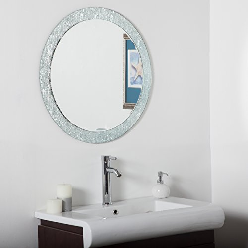 mirrors decor frameless wonderland x pd bathroom round oriana shop mirror in
