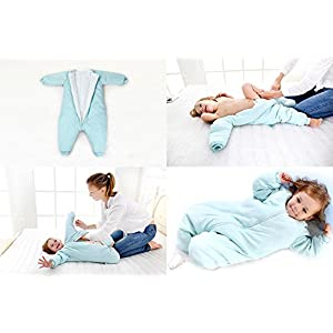Baby Sleep Bag with Feet Winter, Wearable Blanket with Legs, Sack for Toddler Thicken 2.5 TOG (18-36 Months, Medium)