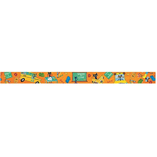 (Edupress Pete The Cat School is Cool Straight Border Trim (EP63268))