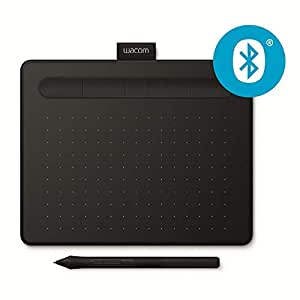 Wacom Intuos S - Tableta gráfica inalámbrica para pintar, dibujar y editar photos con 2 softwares creativos incluydos para descargar*, compatible con Windows & Mac, negro