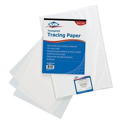 Tracing Paper Pad (Set of 100) Size: 24'' W x 36'' D by Alvin and Co.