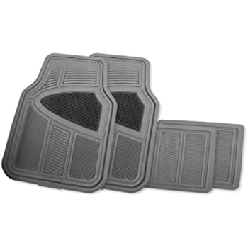 Goodyear GY-FM4204G Gray Universal Premium Rubber All Season Floor Mat Set - 4 Piece