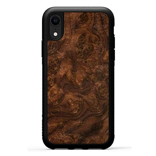 Carved | iPhone XR | Luxury Protective Traveler Case (Walnut Burl)