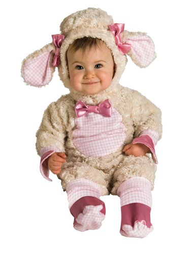 Rubie's Costume Baby-girls Infant Noah Ark Collection Lucky Lil Lamb Costume, Beige/Pink, 0-6 months