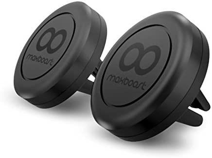 Maxboost Car Mount, [2 Pack] Universal Air Vent Magnetic Car Mounts Holder Compatible with iPhone 12 11 Pro Xs Max XR X 8 7 Plus 6, Galaxy S20 Ultra S10 S10e 5G S9,LG,Note 20 10,Pixel(Work Most Case)