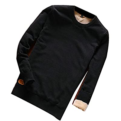 Nice ONTBYB Men's Thicken Round Neck Solid Long Sleeve Pullover Swaeter supplier