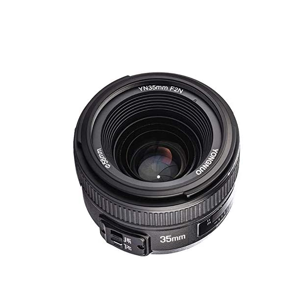 RetinaPix YONGNUO YN35mm F2 Lens 1:2 AF/MF Wide-Angle Fixed/Prime Auto Focus Lens for Nikon DSLR Cameras