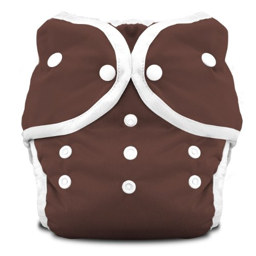 Thirsties Duo Diaper Snap, Mud, Size One (6-18 lbs)