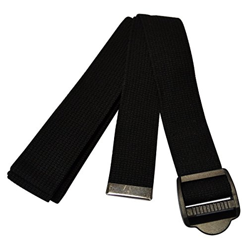 YogaAccessories 10' Cinch Buckle Cotton Yoga Strap (Black)