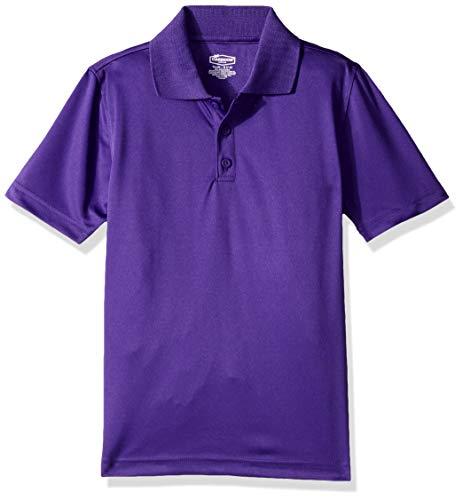 - Classroom School Uniforms Boys' Big Youth Unisex Moisture-Wicking Polo Shirt, Purple, L