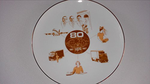 ups-1987-collectible-plate-vtg-united-parcel-service-80-year-anniversary
