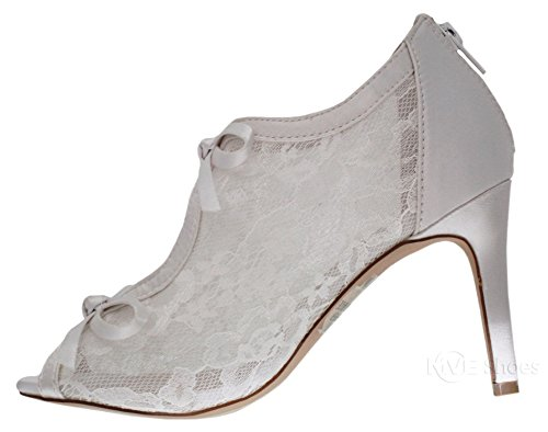 Shootie Women's Toe Lace Peep MVE Platform White p Heel High Bridal Shoes zp8xqwa6