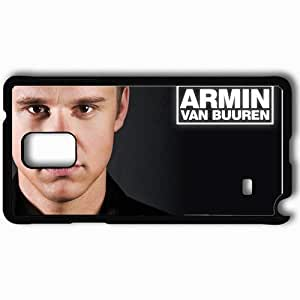 Personalized Samsung Note 4 Cell phone Case/Cover Skin Armin Van Buuren Face Look Shirt Text Black