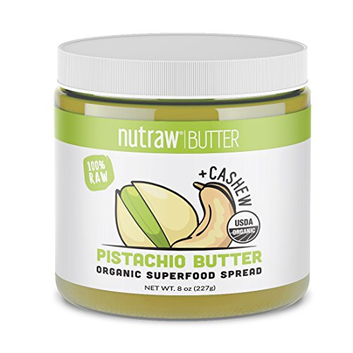 Nutrawbar, 100% Raw Pistachio + Cashews Butter, Organic Superfood Spread 8oz