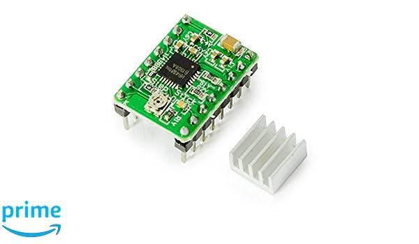 Stepper Motor Motor Paso Conductor A4988 verde para Arduino ...
