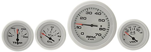 Sierra International 69724P Arctic Twin Engine Add On IB/IO 4 Gauge Set Includes Tach, Oil Press & Water Temp Gauges ()