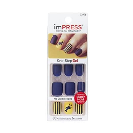 Kiss Products Impress Nails with Sporty Accents, Charity, Burgundy INC. BIPAT140