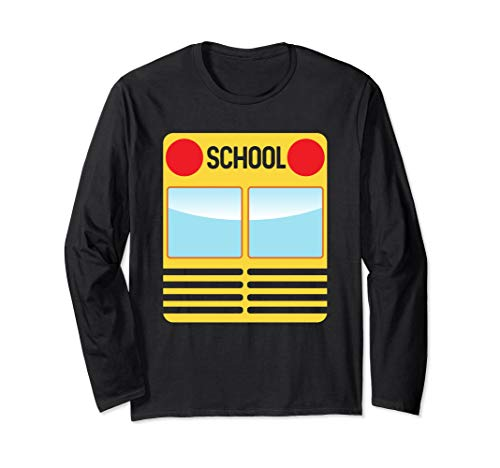 Funny School Bus Long Sleeve T-Shirt Halloween Costume -