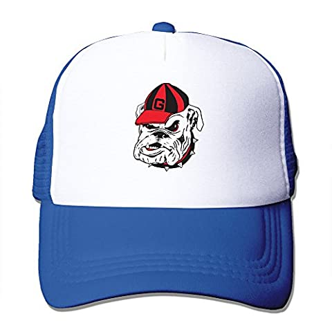 MZONE Unisex-Adult Flat Billed Cap Hat University Of Georgia Bulldogs Logo Summer Hats Caps (Georgia Blues Dawgs)
