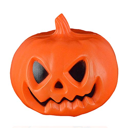 ROSENICE Halloween Pumpkin Lamp Glowing Light Up Pumpkin Party Decorations (Orange)