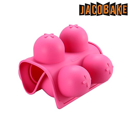 Jacobake 8-Cavity Ball Shape Silicone Mold - Easy Baking Tools for Mousse Cake Chocolate Dessert Ice Cream Bombes - Nonstick & Easy Release - BPA free Food Grade Silicone by Jacobake (Image #4)
