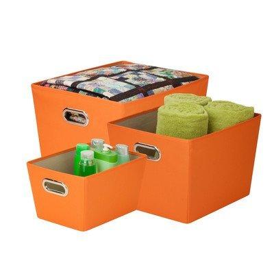 honey-can-do-sftz03591-decorative-storage-bin-tote-kit-with-chrome-handles-orange-3-pack