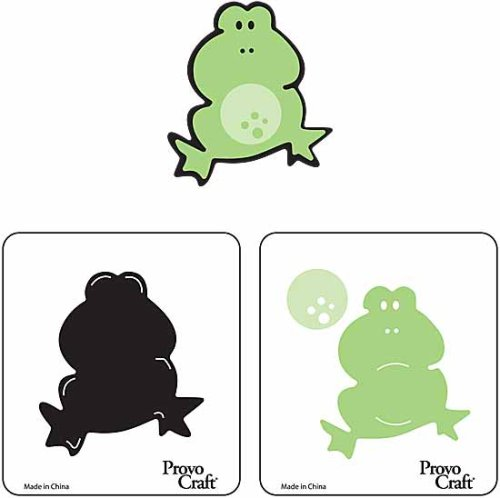 2 Step Cuttlebug Dies - Provo Craft Cuttlekids 2 Step Dies-Frog