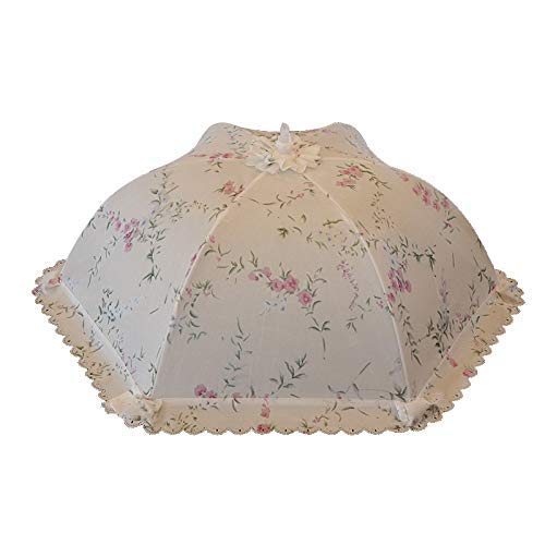 - Food Cover Tent, Foldable Dish Cover, Rectangular Food Cover, Round Table Cover, Food Cover, Leftovers, Anti Flies, Table, Household (Color : Full of Peony)