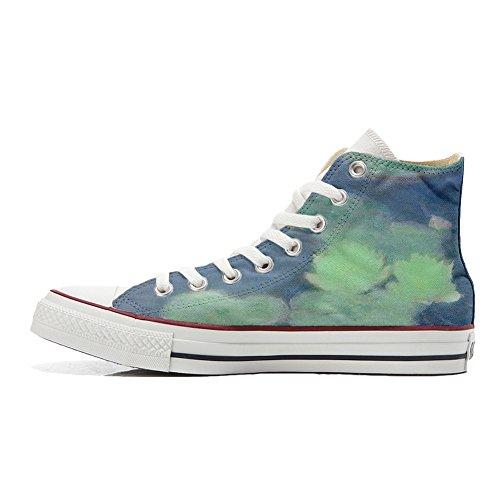 Converse All Star zapatos personalizados (Producto Artesano) Fiori Bianchi