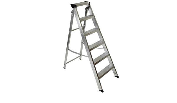 Preciso diseñado Youngman Industrial Builders 1,2 Metre aluminio escalera 6 peldaños [unidades 1] – W/Seguridad rescu3 ® garantía: Amazon.es: Bricolaje y herramientas