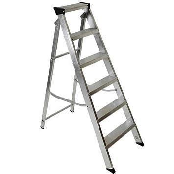 Advanced Industrial Youngman Builders 1,6 Metre escalera aluminio 8 peldaños [unidades 1] - -: Amazon.es: Bricolaje y herramientas