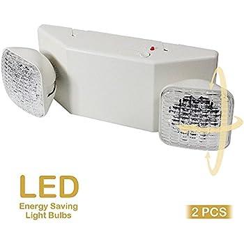 Etoplighting 2pcs X Led Emergency Exit Light Standard Square Head Ul924 El5c12x2