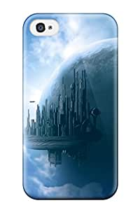 Best Awesome Defender Tpu Hard Case Cover For Iphone 4/4s- Sky City