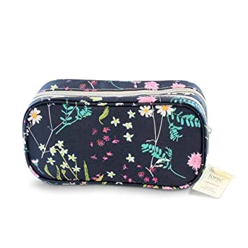 8db2fee859f5 Amazon.com   Tonic Australia Medium Make Up Bag Whimsy Ink Double Zipper