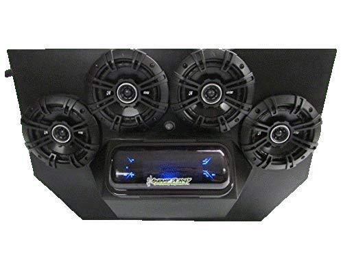 SD 894BBT4B -Polaris RZR 800 & 900 4-Seater Stereo System BT UTV Side by Side (4-5.25' Marine Speakers)