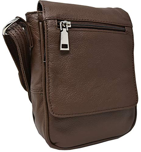Garrison Grip CCW Locking Leather Cross Body Strap Purse for Small Frame Semi-Auto 22 Cal 380 and 9mm