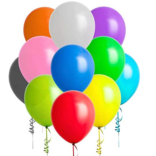 Bulk Latex Balloons - 200 Pack Party Balloons, 12 Inch
