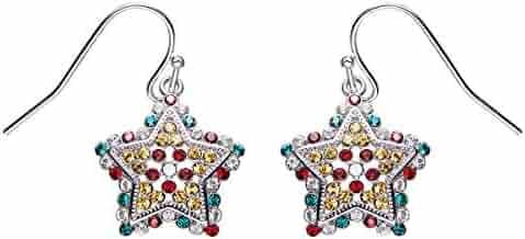 1c07acf55 SNOWH Swarovski Crystals Earrings Cubic Zirconia Drop Dangle Earrings CZ  for Women Girls Mother's Day