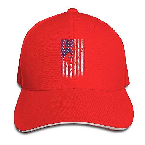 WINGGOO Lineman American Flag Boy Lovely Adjustable Peaked C