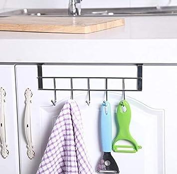 Stainless Steel Cupboard Hanger Racks Clothing Storage Hooks Under Cabinet