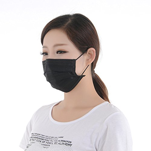 Cleaner Fancy Costume Dress (Yamde 50 Pcs Disposable Earloop Face Masks Germ Dust Protection Four Layer Activated Carbon Filter Face)