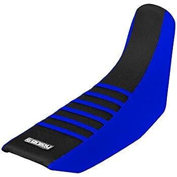 BLUE RIBS Full Gripper Seat Cover Enjoy MFG 2000-2004 Yamaha TTR 225 BLUE SIDES NEON YELLOW TOP