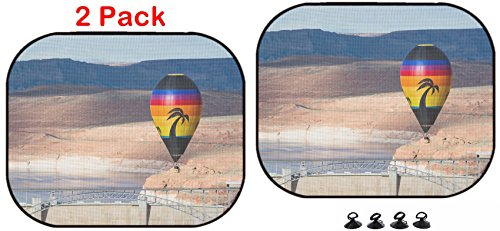 - Luxlady Car Sun Shade Protector Block Damaging UV Rays Sunlight Heat for All Vehicles, 2 Pack Image ID: 34115804 hot air Balloon Floating Over The Glen Canyon Dam in Arizona