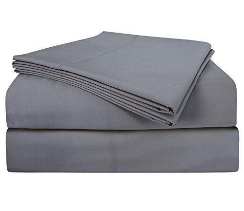 PHF Bamboo Sheets Set 60% Bamboo Viscose 40% Cotton 300T Deep Pocket 4 Piece King Size (Cotton Bamboo Sheets)