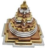 "Krisah® 2"" X 2"" Panch Dhatu(Mix Metal) Laxmi Meru Shree Yantra(Silver, Copper, Gold)"