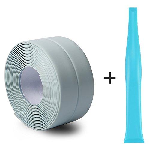 Silicone Caulk Strip,PVC Strong Self Adhesive Tub Sink Wall Sealing Caulk tape 1-1/'' x11 Blue by Oumers