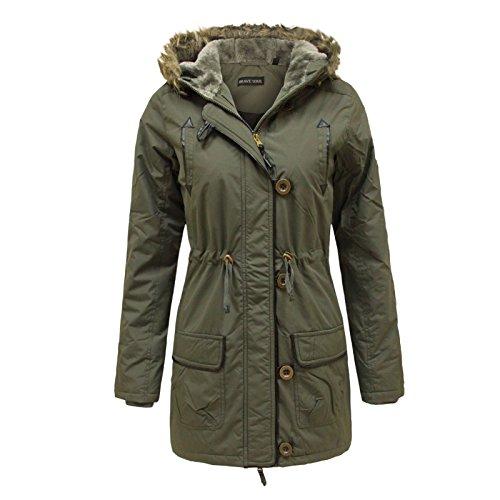 Brave-Soul-New-Womens-Vintage-Retro-Fur-Hooded-Military-Parka-Jacket-Coat
