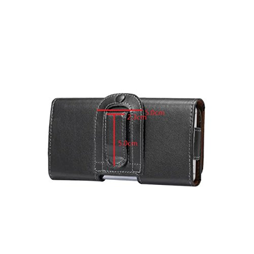 Premium Leather Wallet Sleeve Case, Men's Black Belt Clip Holster Universal 6.3-inch Cell Phone Protective Cover Pouch Phone Carrying Case